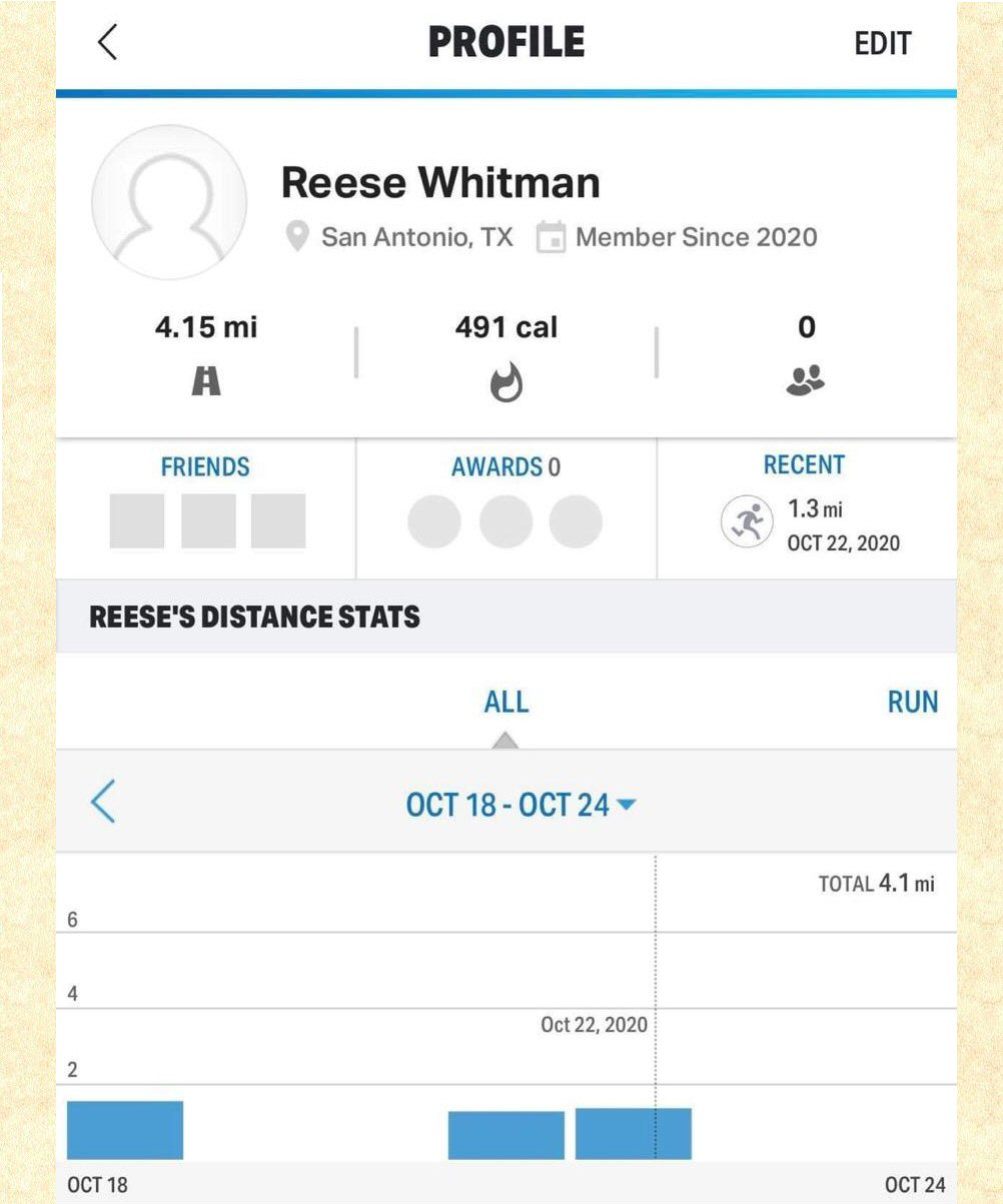 Reese Whitman Running log